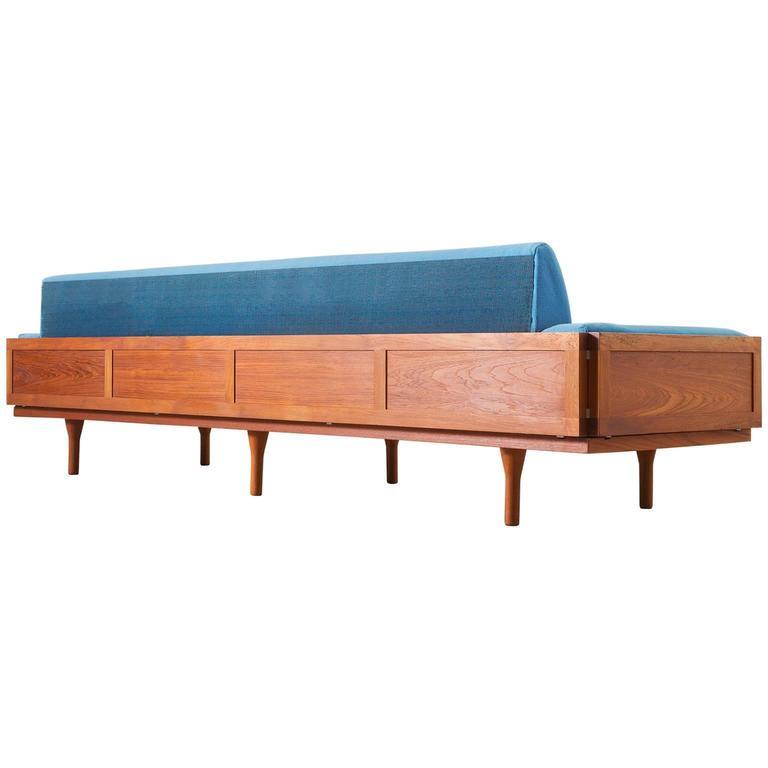 Illum Wikkelso Large Four-Seat Sofa in Teak