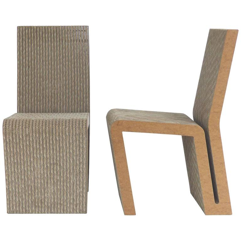 Frank Gehry Cardboard Side Chairs At 1stdibs