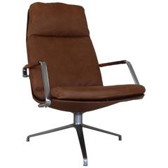 Executive lounge desk chair by Kastholm and Fabricius FK86