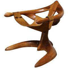 Studio Crafted Lounge Chair by Californian Woodworker Tim Crowder = MOVING SALE!