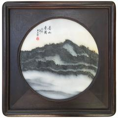 China Extraordinary Natural Stone Painting Dreamstone from Private Collection