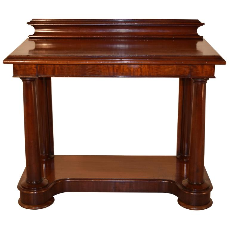 19th Century English Mahogany Console Table