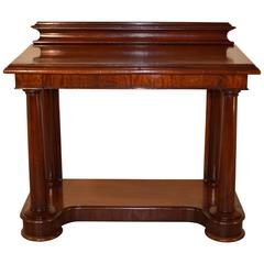 19th Century English Mahogany Console Table