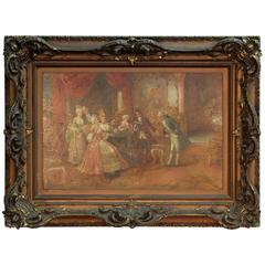 Antique French Royal Court Painting
