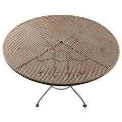 Round Garden Patio Mesh Top Table