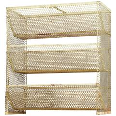 Prouve style Industrial Perforated Metal Display Shelf