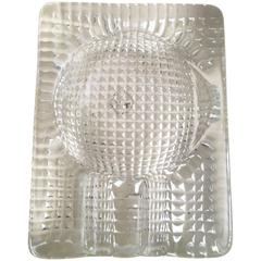 Italian Quilted Glass Cigar Ashtray
