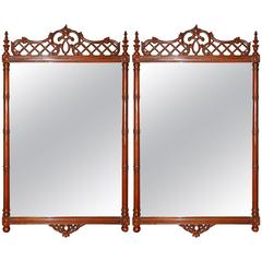 Pair of Chippendale Style Mirrors