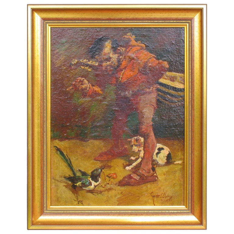 20th Century Painting by Gustav Ohm For Sale