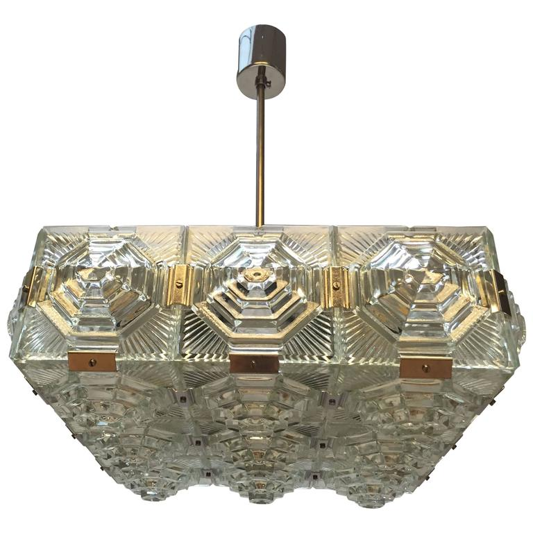 Mid-Century Modernist Chandelier in the Style of Kalmar