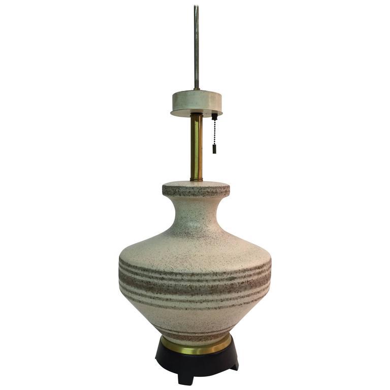 Gerald Thurston for Lightolier Ceramic Table Lamp