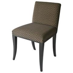 Gosling Sybil Low Backed Dining Chair with black lacquer legs.