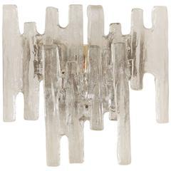 Grand Scale Kalmar Ice Glass Vanity Sconce