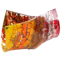 JIMMIZ MAREA  Contemporary Organic Multicolor Glass Centerpiece Sculpture