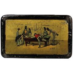 Black Americana Lithographed Tin Box with Works from Theodore Worth