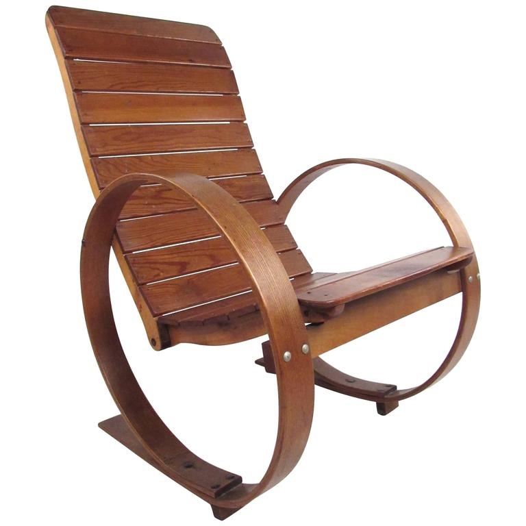 vintage studio made rocking chair for sale at 1stdibs. Black Bedroom Furniture Sets. Home Design Ideas