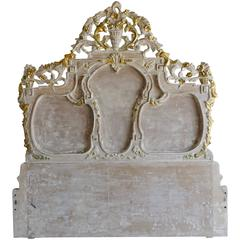 French Carved Headboard, circa 1930