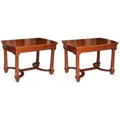 Pair of Mahogany Library Tables by Nordisk Kunst & Möbel-Etablissement