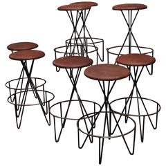Set of Eight Barstools