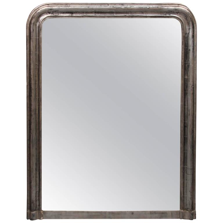 Large Silver Mirror For Sale