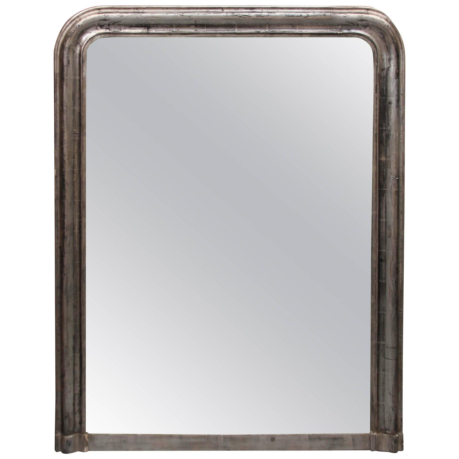Large silver mirror for sale at 1stdibs for Silver mirrors for sale