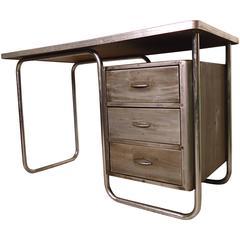 Refinished Vintage Metal Desk