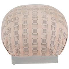 Large Square Springer Style Upholstered Ottoman/ Pouf