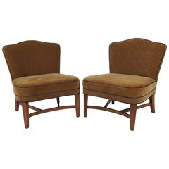Pair of Fabulous Mid-Century Slipper Chairs