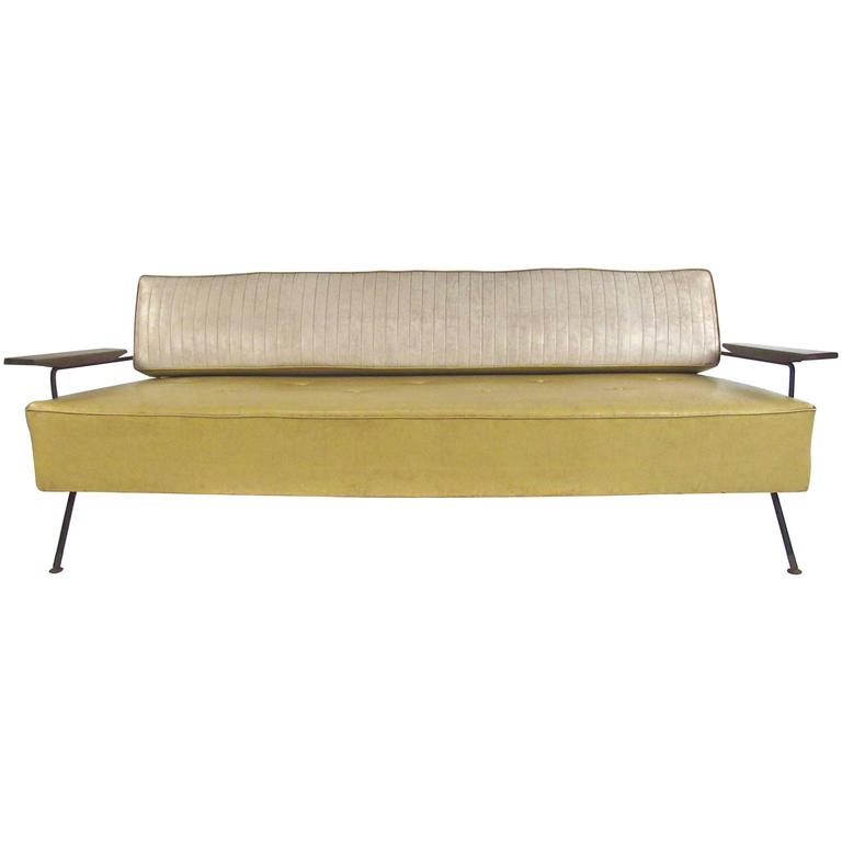 Midcentury Vinyl Daybed by Richard McCarthy for Selrite