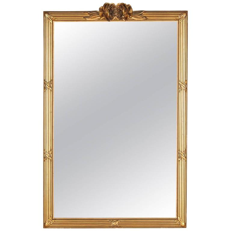 Louis XVI Style Giltwood Mirror, circa 1930s For Sale