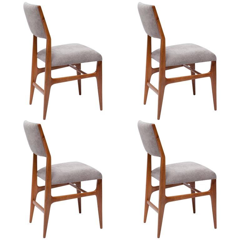 Set Of Four Dining Chairs By Gio Ponti For Singer U0026 Sons For Sale