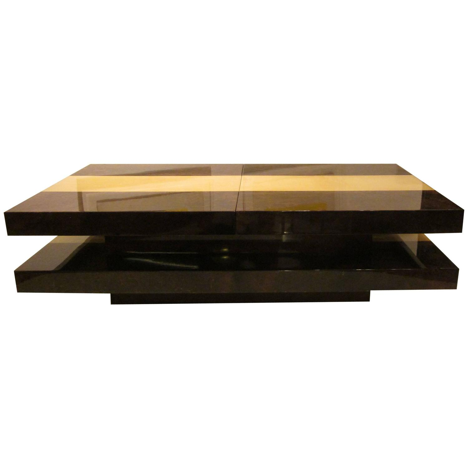 Aldo Tura Sliding Open Coffee Table Italy 1960s For Sale At 1stdibs