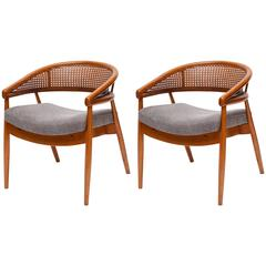 """Pair of James Mont """"King Cole"""" Chairs"""