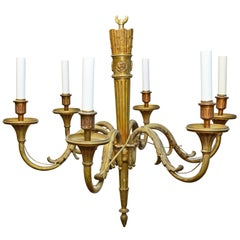 19th Century French Louis XVI Style Six-Arm Chandelier