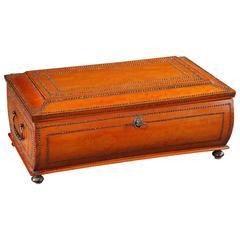 Large Charles X Wood Burr Veneer Shawl Box, 19th Century