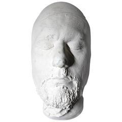 Good 20th Century Plaster Death Mask of a Bearded Gentleman