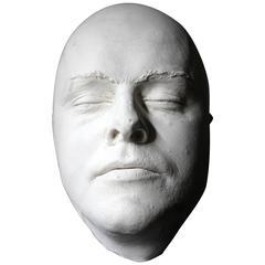 Good 20th Century Plaster Death Mask of a Burly Gentleman