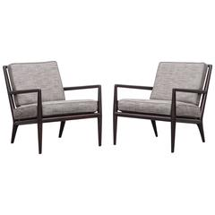 Pair of T. H. Robsjohn-Gibbings Lounge Chairs