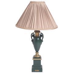 Metal lamp of Amphora shape with scrolling handles, USA circa 1950