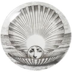 Atelier Fornasetti porcelain plate number 274, Italy circa 1990