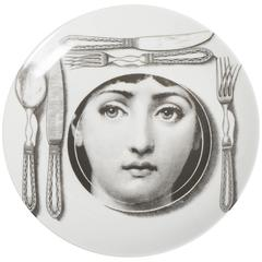 Atelier Fornasetti porcelain plate number 203, Italy circa 1990