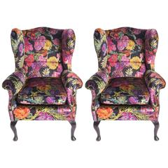 Armchairs on beech wood supports, England circa 1890