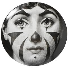 Atelier Fornasetti porcelain plate number 122, Italy circa 1990