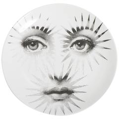 Atelier Fornasetti porcelain plate number 132, Italy circa 1990