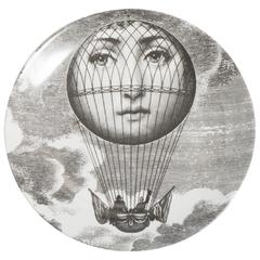 Atelier Fornasetti porcelain plate number 93, Italy circa 1990