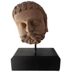 Sculpted Terracotta Gandhara Head