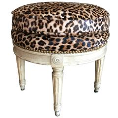 Louis XVI Style Stool in the Manner of Maison Jansen, 20th Century
