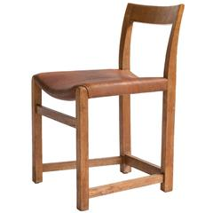 Rare Mogens Lassen Oak Side Chair, 1934