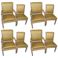 Set of Eight Period Consulate Chairs