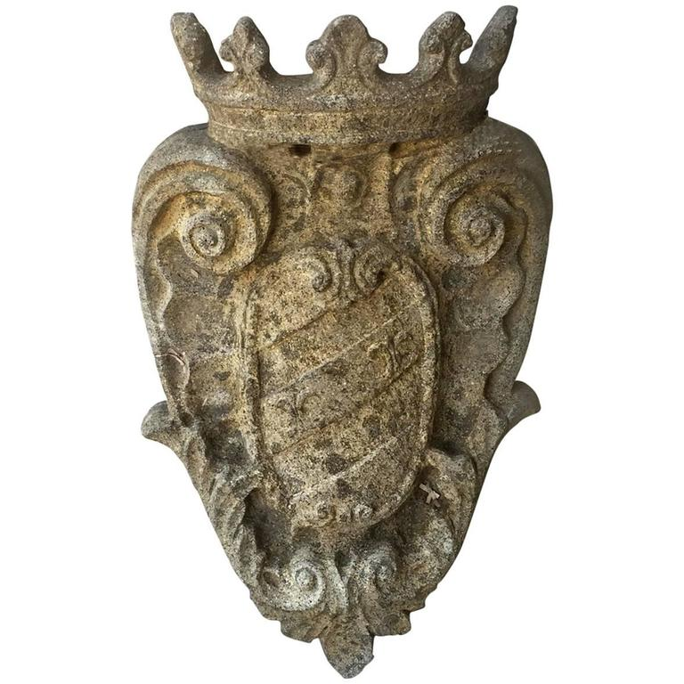 Antique Louis XVI Stone Element from Umbria with Intricate Carvings, circa 1780 1